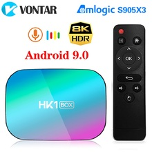 2020 VONTAR HK1 BOX 8K 4GB 128GB TV Box Android 9 Amlogic S905X3 Android 9.0 1000M Wifi 4K GooglePlay Youtube Set top box