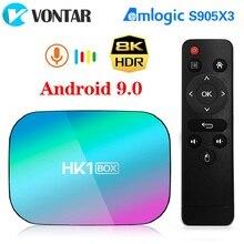 VONTAR TV BOX HK1 con Android 9, decodificador de señal con 8K, 4GB, 2020 GB, Amlogic S905X3, Android 128, wi fi 9,0 M, 4K, Google Play, Youtube, 1000