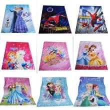Lençol desenho aranha da princesa mc queen carros, lençol 150x200cm para meninos, meninas, decoração de quarto, lençol