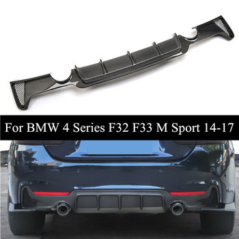 2014-2017 Year Real Carbon Fiber Rear Bumper Diffuser For B-MW 4 Series F32 F33 M Sport 430i 435i Car Styling image