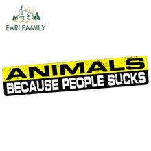 EARLFAMILY – autocollant de voiture étanche en vinyle, 15cm x 3cm, JDM, amoureux des animaux domestiques, sauvetage chien chat, chiot Emo Vegan