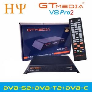Image 1 - Gtmedia V8 Pro2 DVB S/S2/S2X,DVB + T/T2/כבל (J83.A/B/C)/ISDBT bulit WIFI תמיכה מלא PowerVu, דרה & מפתח ביס