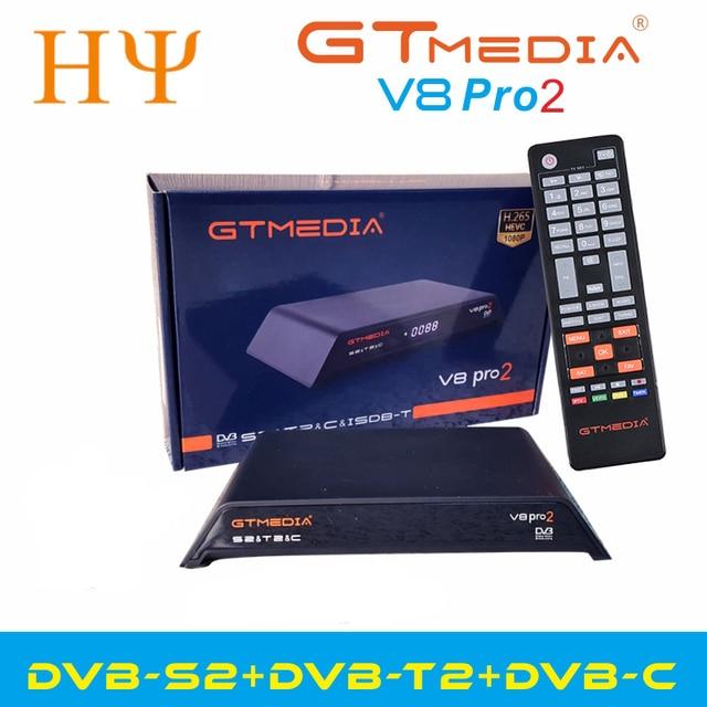 Gtmedia V8 Pro2 DVB S/S2/S2X,DVB + T/T2/כבל (J83.A/B/C)/ISDBT bulit WIFI תמיכה מלא PowerVu, דרה & מפתח ביס