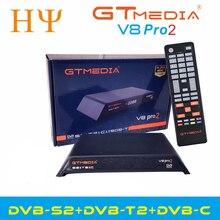 Gtmedia V8 Pro2 DVB S/S2/S2X,DVB + T/T2/kabel (J83.A/B/C)/ISDBT zbudowany w WIFI obsługuje pełny PowerVu, DRE i klucz Biss
