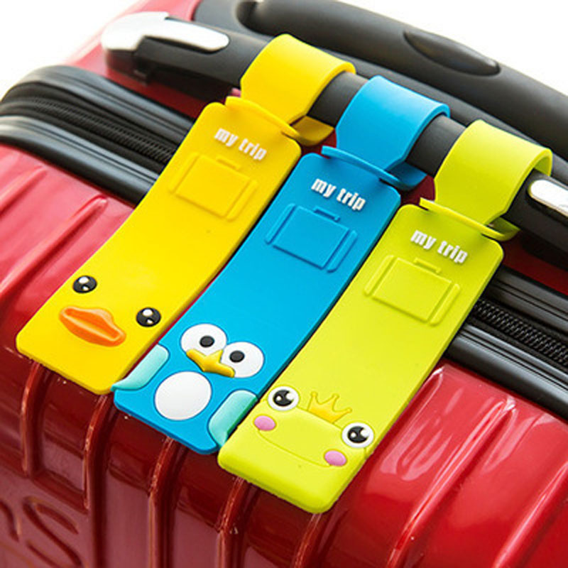 Travel Accessories Creative Luggage Tag Animal Cartoon Silica Gel Suitcase ID Addres Holder Baggage Boarding Bag Portable Label