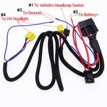 1 шт черный соединитель для автомобильных фар h4/9003