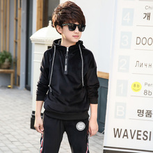 BoysGolden Velvet 2-piece suit Leisure Suit Sports Spring and Autumn Clothes boys clothes  kids