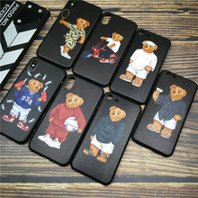 Luxury Sports GG Italy Bear soft case for iphone 11 PRO X XS MAX XR 8 7 6 6S plus phone cover 3D Skin silicon coque fundas capa
