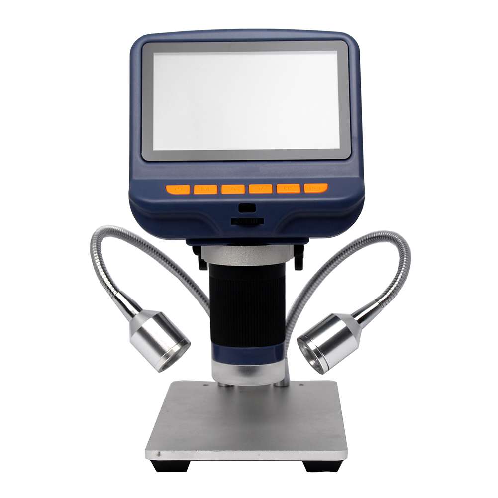 LCD Digital <font><b>USB</b></font> <font><b>Microscope</b></font> with <font><b>1080P</b></font> 10X-220X Magnification Zoom Adjustable Light Camera Video Recorder for Phone Repair Tool image