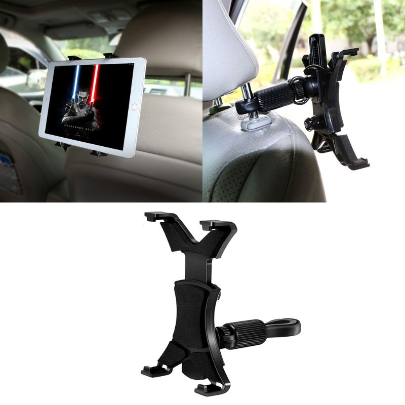 Universal Car Headrest Mount Car Back Seat Tablet Holder Bike Music Mic Pole Cradle for iPad Kindle Samsung Galaxy Tab Xiaomi Mi|Tablet Stands|   - title=