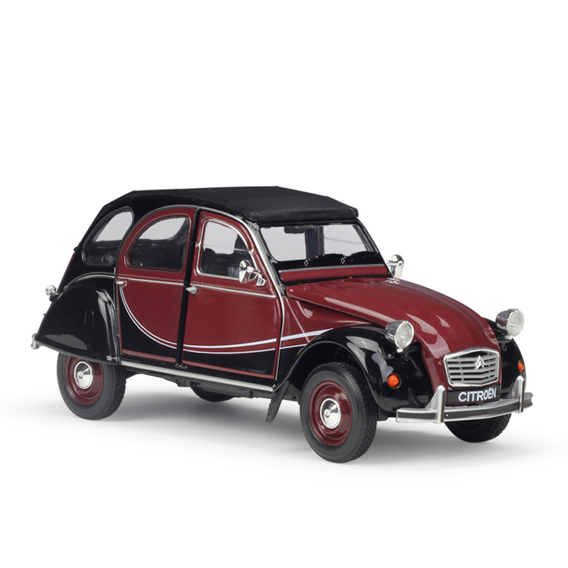 Welly <font><b>1/24</b></font> 1:24 <font><b>Scale</b></font> Citroen 2CV 6 Charleston Vintage <font><b>Car</b></font> Diecast Display Metal Alloy Collectible Model Children Boys Toy image