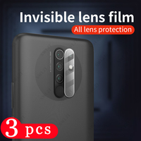 3/2/1 Uds para xiaomi redmi Nota 9 9 9T 8T 7 pro Max cámara de película protector de 10X 9A 9c 9i 9AT Cámara pantalla de la Lente de Cristal protector