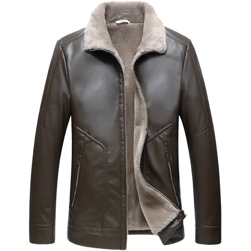 Duan lang legend 2019 new fashion leather jacket men winter jacket men casual jacket men turn down collar thick coat warm in Jackets from Men 39 s Clothing