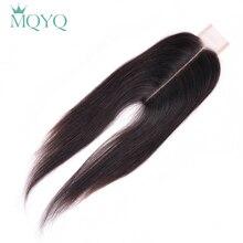 MQYQ человеческие волосы, бразильские прямые волосы, 2x6, на шнуровке, человеческие волосы, отбеленные узлы с детскими волосами, не Реми