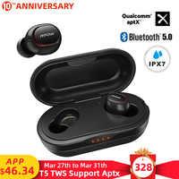 Mpow ipx7 Impermeabile T5/M5 Aggiornato TWS Auricolari Senza Fili Auricolare Bluetooth 5.0 Supporto Aptx 42h Tempo di Gioco Per iPhone Samsung