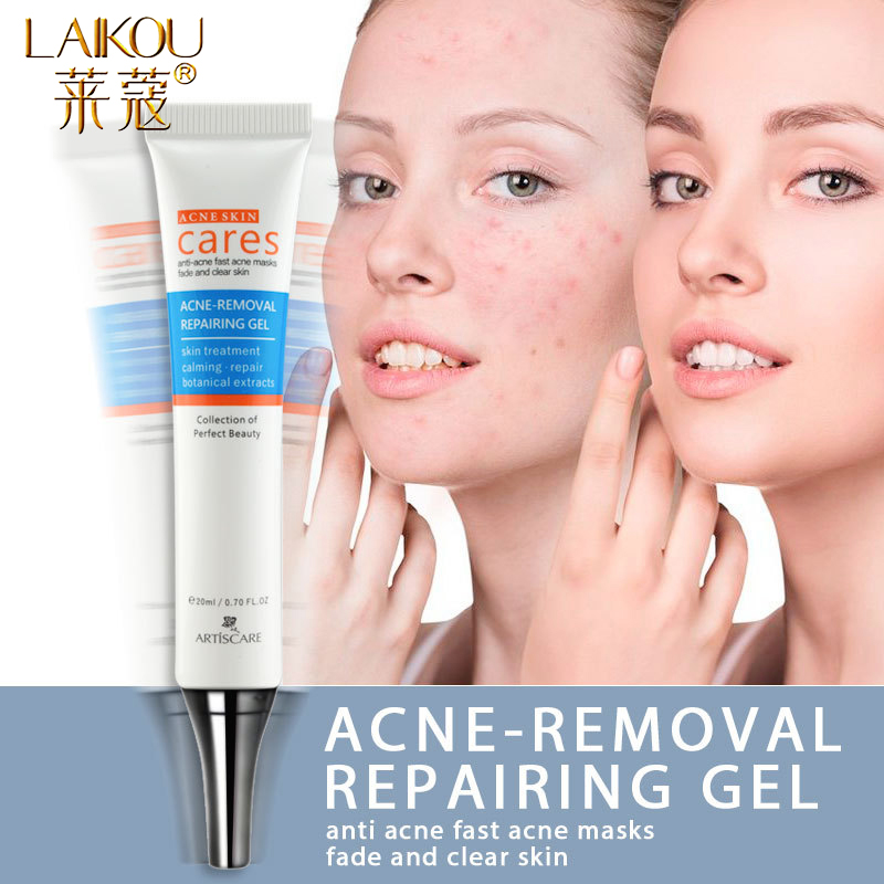 LAIKOU Acne Treatment Gel Blackhead Remova Face Cream Anti Acne Oil Control Shrink Pores Scar Remove Whitening Face Skin Care