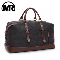 MARKROYAL Leinwand Leder Männer Reisetaschen Tragen auf Gepäck Tasche Männer Reisetaschen Handtasche Reise Tote Große Wochenende Tasche Dropshipping