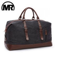MARKROYAL Canvas Leather Men Travel Bags Carry on Luggage Bag Men Duffel Bags Handbag Travel Tote Large Weekend Bag Dropshipping(China)