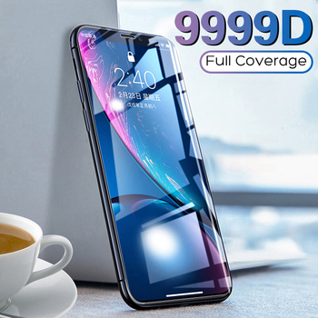 9999D Full Cover Protective Glass For iPhone 11 6 6s 7 8 Plus Tempered Glass Film For iPhone X XS XR 11 11 Pro Max Screen Glass 1
