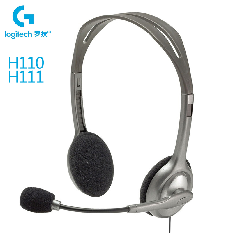 Logitech H110/H111 Gaming Headset With Microphone 3.5mm Jack Wired Stereo Music Calling Gamer Headphones For Desktop Laptop PC|Headphone/Headset|   - AliExpress