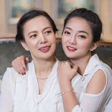 Oriental ritmo de água doce pérola colar luz branca forte genuíno presente feminino para mãe-em-lei presente do dia da mãe