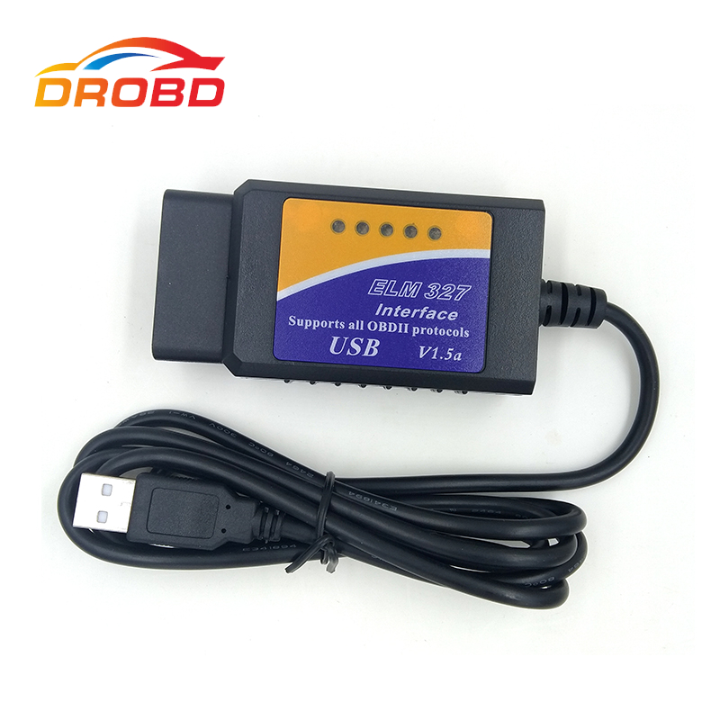 Best quality Diagnostic Tool V1 5 ELM327 USB FTDI FT232RL PIC18F2480 chip modified FTDI chip OBD2 Supports all OBDII protocols