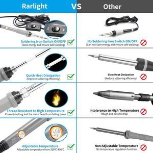 Image 2 - 可変温度電気はんだごてキット220v 110v 60 60w溶接はんだリワークステーション熱鉛筆修理ツール