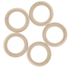 DIY Wooden Beads Connectors Circles Rings Lead-Free Natural Wood
