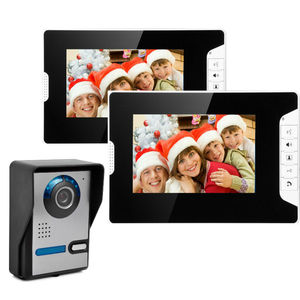 "Image 3 - Yobang セキュリティ 7 ""有線ビデオ通話ホームインターホンカラー TFT Lcd ビデオドア電話ドアベルセキュリティインターホン監視システム"