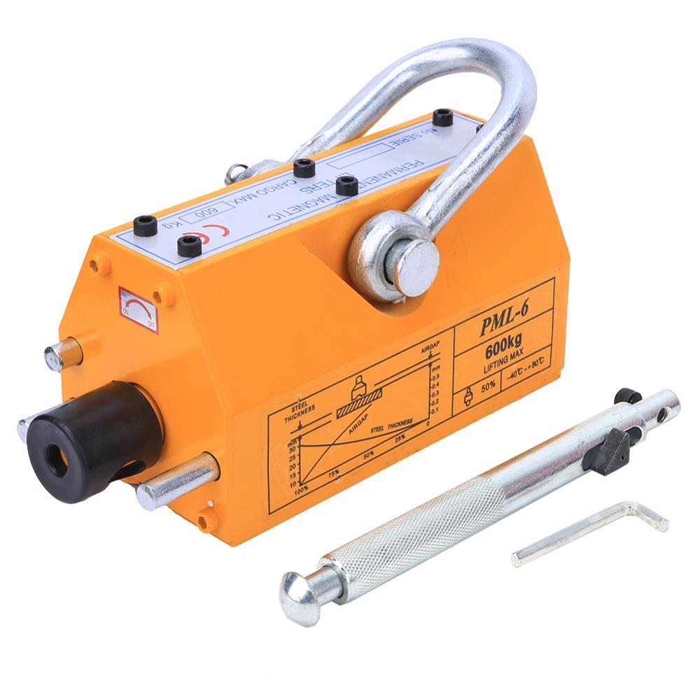 Lifting Magnets 600KG Steel Permanent Magnetic Lifter Heavy Duty Crane Hoist Lifting Magnet Lifting Tools