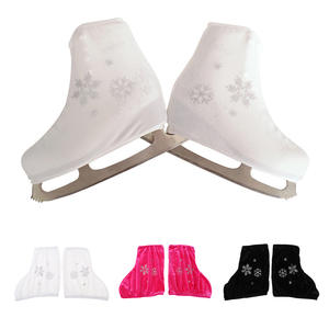 2pcs Ice Skate Boot Covers Protector for Figure Skating Velvet