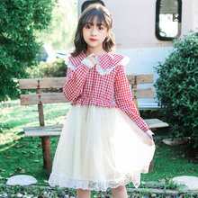 Girls Dress Autumn Plaid Long Sleeve Princess Dress Children Clothing Cotton Kids Dresses for Girls Clothes 4 6 8 9 10 11 Years kids dresses for girls sweaters 2017 new autumn cotton sweater dress for girls clothing school kids clothes 10 11 12 13 14 years