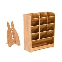Desk Organizer Multi Functional DIY Pen Holder Box Desktop Stationary Easy Assembly Home Office Supply Storage Rack -