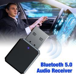 Receptor USB con Bluetooth 3,5mm, Mini adaptador de música estéreo AUX inalámbrico Bluetooth 5,0, llamada manos libres para coche, PC y TV