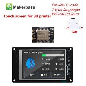 Image 1 - 3d Printer Display Levert Mks TFT35 V1.0 Touch Screen + Mks Wifi Module Afstandsbediening 3.5 Inch Lcd Panel Kleurrijke displayer