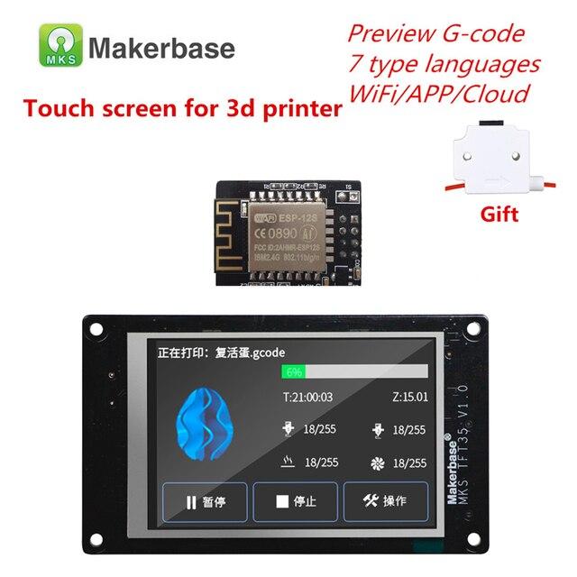 3d Printer Display Levert Mks TFT35 V1.0 Touch Screen + Mks Wifi Module Afstandsbediening 3.5 Inch Lcd Panel Kleurrijke displayer