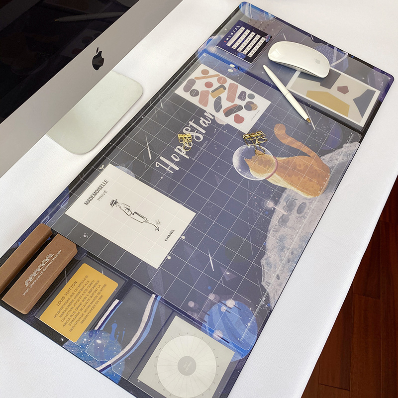 Large Waterproof Pu Mouse Pad Student Writing Pad Office Computer Desk Mat Laptop Cushion Desk Organizer with Calendar 2