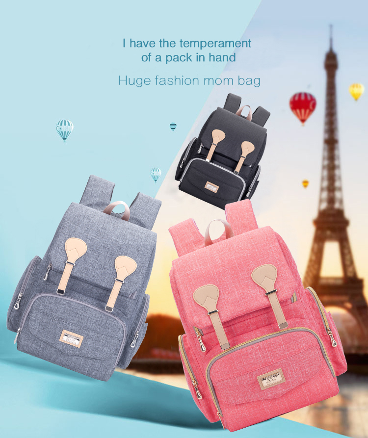 H5b2e02947ced46108c8ec92400104a3c8 Baby Diaper Bag Backpack Large Capacity Nappy Waterproof Maternity Baby Bag For Mum Mummy Maternity Nappy Backpack For Stroller