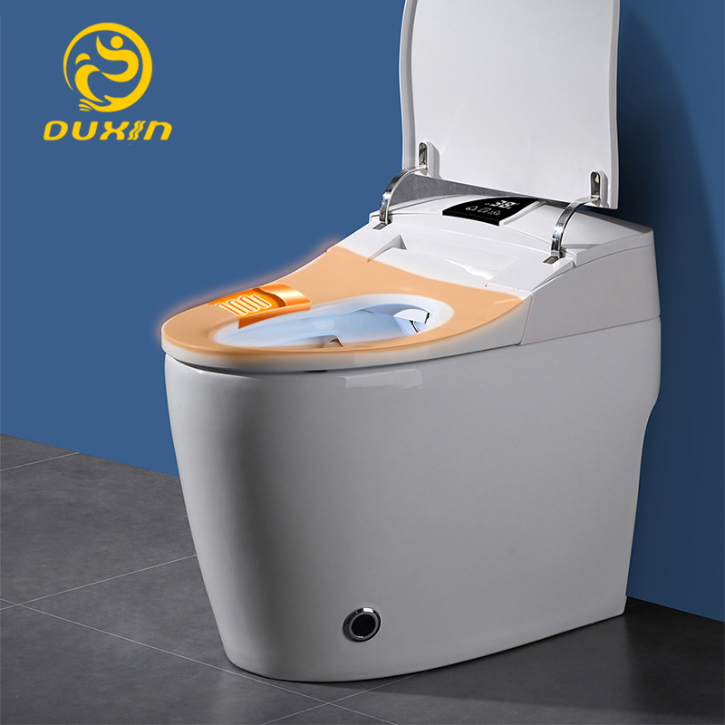 Smart toilet WC One piece toilet intelligent 110V Heated seats Wash and dry No water pressurefoot-feel flush limit 5