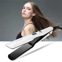Professional Wide Plates Hair Straightener Curler Ceramic Flat Iron Keratin Straightening Curling Irons Styling Tool 360 Degree