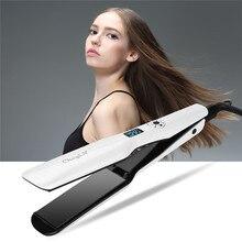 Professional Wide Plates Hair Straightener Curler Ceramic Fl