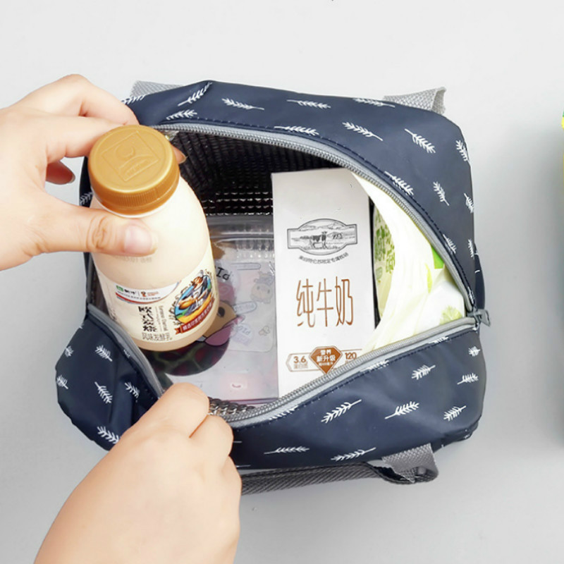 25aa29021692 US $1.36 |Functional Pattern Cooler Lunch Box Portable Insulated Canvas  Lunch Bag Thermal Food Picnic Lunch Bags For Women Kids-in Lunch Bags from  ...
