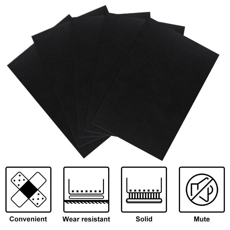 ROSENICE 10 Sheets Blank Kraft Paper Self-Adhesive Felt Sheets Multi-Purpose For Art And Craft Making (Black)