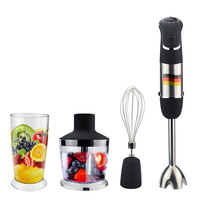 Multi Function Immersion Hand Blender 4 in 1small Blender Powerful 850W 6 Speed 500ml Chopper 600ml Smoothie Cup Food Processor