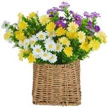 5 Heads Daisy Flowers Artificial Bouquet Silk Fake Chrysanthemum Plants Wedding Home Decor M