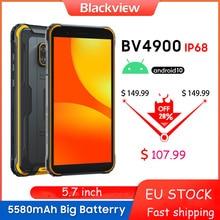 Blackview – Smartphone BV4900, téléphone robuste et étanche IP68, 3 go + 32 go, 5.7 pouces, 5580mAh, Android 10, NFC