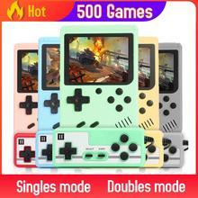 Dahili 500 oyunları Retro Video oyunu oyuncu taşınabilir cep Mini elde kullanılır oyun konsolu makinesi çocuklar için hediyeler nostaljik oyuncu