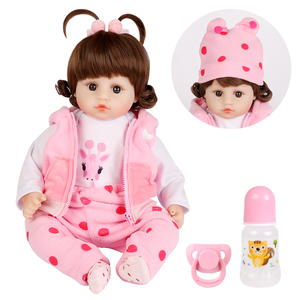 Image 2 - Realistic Reborn Doll 19 Inch Lifelike Handmade Soft silicone reborn toddler baby dolls Christmas surprise gifts lol toy