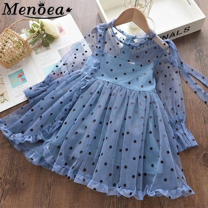 azul vestido de malha crianças para crianças vestido de princesa
