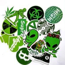 20pcs Waterproof Cartoon Green hemp leaf ninja Tide brand Stickers Skateboard Su